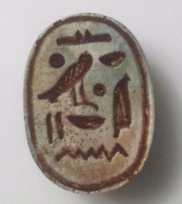 Rare Ancient Egyptian green Scarab  New Kingdom i (1549–1069) BC
