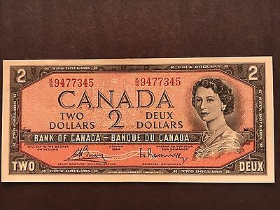 1954 CANADA Uncirculated Two Dollar Bill-#O/G1800288-Crisp-Vibrant Colors