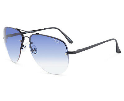 Quay Australia Women's Aviator Muse Fade QU-000178 Sunglasses - Black/Navy