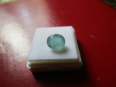 Certified Very Good Oval Cut 2.83 Carat Grandidierite.