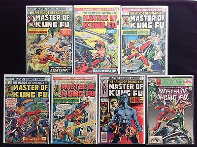 MASTER OF KUNG-FU Lot of 7 Marvel Comic Books - #24 31 33 34 35 51 107!
