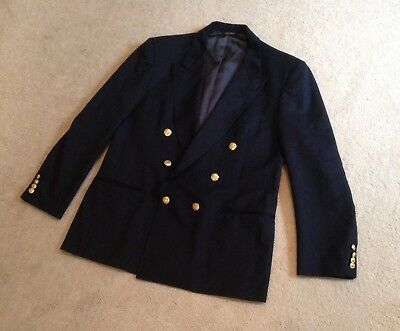 Men's Deep Navy NORDSTROM Gold Buttoned Blazer - GREAT Condition, RRP $240