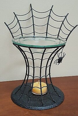 """PartyLite """"SPIDER WEB"""" Fragrance Wax Melts Oil Warmer Tealight Candle Holder"""
