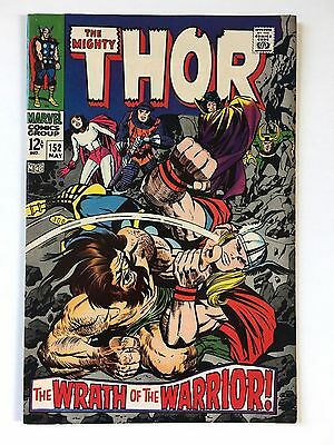 Thor 152 Original Owner Unrestored VF 8.0 Wrath Of The Warrior Silver Age Marvel