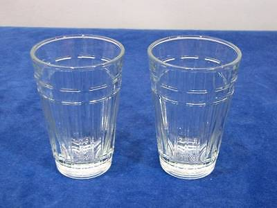 (2) Longaberger Glass Woven Traditions 8 Oz Tumblers, Made In Usa