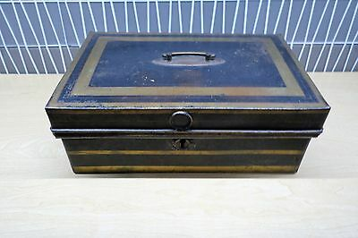 Antique Metal Strong Box