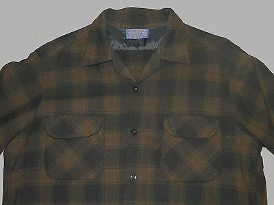 Vintage Pendleton  Black wool shirt Rockabilly 50s Sz .L MENS