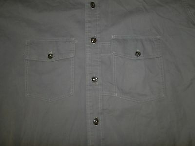 Vintage NUFF STUFF  SANFORIZED cotton  shirt Rockabilly  Sz .15 1/2