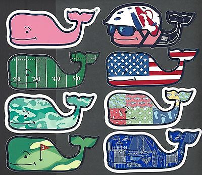 (8) New Authentic Vineyard Vines Pack Lot Whale Stickers Decals