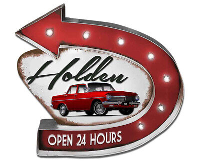 Holden Garage Light Up Sign - Red/White