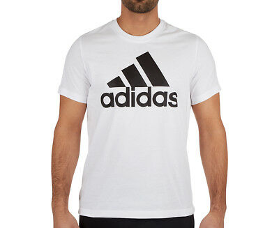 Adidas Men's Essentials Linear Tee - White/Black