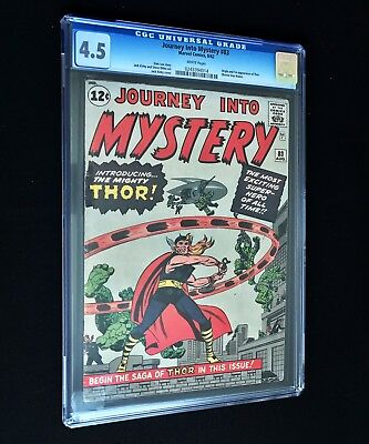 Journey Into Mystery #83 CGC 4.5 WHITE Pages *1st Thor* Marvel SA Silver Age Key