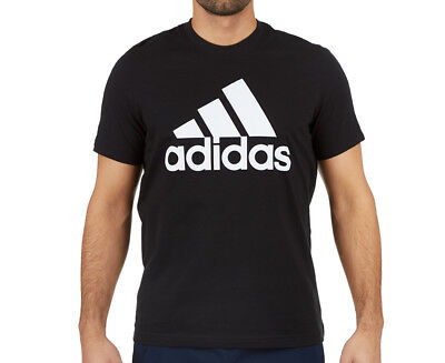 Adidas Men's Essentials Linear Tee - Black/White