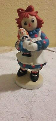 VINTAGE FLAMBRO RAGGEDY ANN and ANDY PORCELAIN FIGURINE