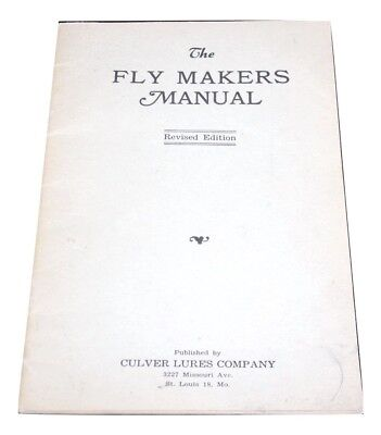 Vintage Rare 1943 The Fly Makers Manual for Fly Fishing Flies