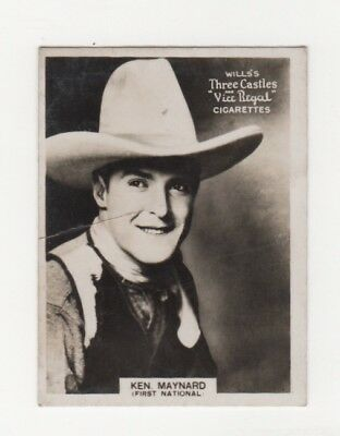 Wills Australian Film Star Cigarette Card Ken Maynard