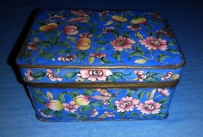 Vintage Chinese Cloisonne  Rectangular Box