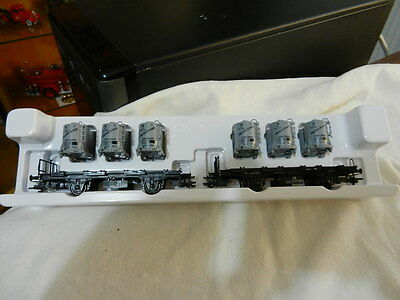 "MARKLIN  ""2 x FLAT BED CARS WITH LOAD"". P/N 48945. Museum"