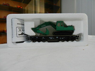 "Roco  ""flat Bed Car With Front Loading Excavator"". P/n 47177"