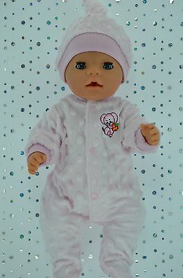 "Play n Wear Doll Clothes For 17"" Baby Born PINK MINKY STRETCH AND GROW~HAT"