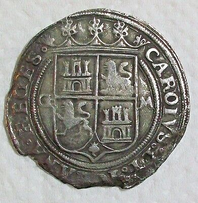 Nd(1542-1555) G-M Mexico Carlos & Johanna Late Series Silver 4 Reales