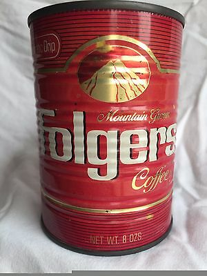 Vintage collectible folgers coffee tin