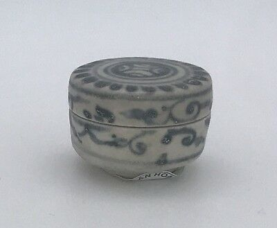 HOI AN HOARD Small Cylinder Box  #230914, Recovered Shipwreck c1480