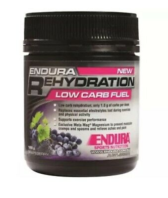 Endura Nutrition NEW 128g Sport Supplements Rehydration Low Carb Fuel FREE EXPRE
