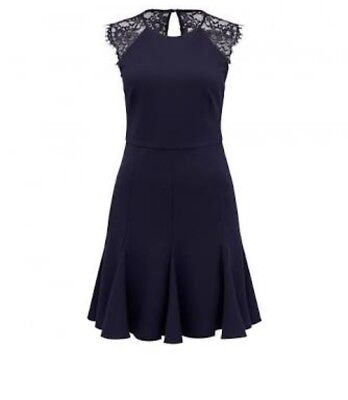 FOREVER NEW Aliyah Lace Prom Dress Navy BNWT - size 10
