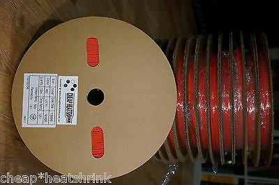 "1.6mm (1/16"") Red Heat Shrink Tubing 100m Reel Heatshrink Tube Sleeve Sleeving"