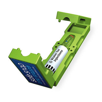 green amp, vial, ampoule opener/breaker/snapper to safely open glass ampoules