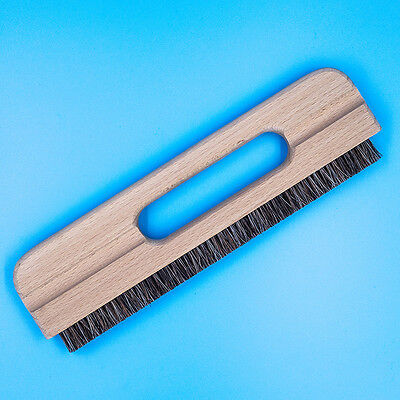 11 In. Wallpaper Smoothing Brush - Flat Smoothing Bristle Brush with Wood Handle