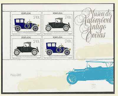 Portugal 1992 MNH ** Mi# 1915-16 Bl 83 Technik Transport Historische Autos