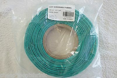 25mm Green Heat Shrink Tubing 25m Reel Heatshrink Tube Sleeve Wire Sleeving 2:1