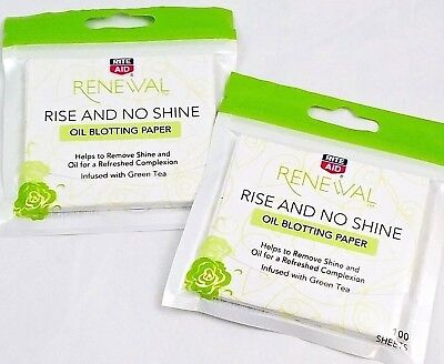 200 Face Oil Absorbing Sheets Rise & No Shine Makeup Blotting Paper W/ Green Tea