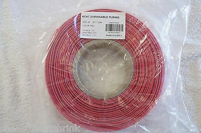 25mm Red Heat Shrink Tubing 25m Reel Heatshrink Tube Sleeve Wire Sleeving 2:1