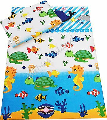 Sea Animals Baby Bedding Set Duvet Covers for Cot/Cot bed/Toddler 100% Cotton