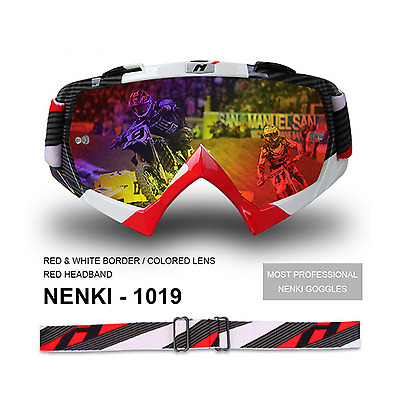 Red Dirt Bike MX Motocross Moto X Goggles anti-fog UV protection Tinted Skiing