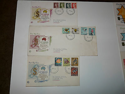 24 First Day Covers From Australia And New Zealand From The 1960's