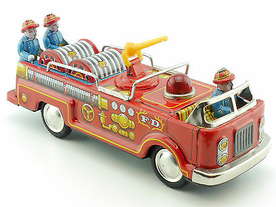 Kokyu? Kosuge? Kashiwa Japan Feuerwehr 60er Blech Fire Engine Tin Toy 1411-14-74