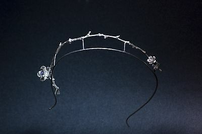 Coronet Tiara in silver for bride and marriage