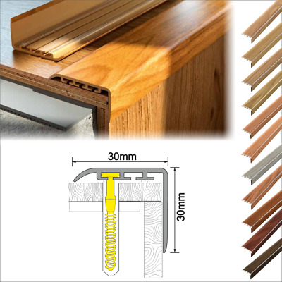 UPVC WOOD EFFECT STAIR EDGE NOSING -TRIM- EDGING NOSING 30 x 30mm
