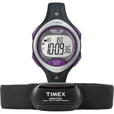 New in Box! Timex Road Trainer T5K723 Fitness Watch HRM - Black/Purple RRP $169