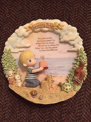 Precious Moment Decorative Serenity Prayer plate