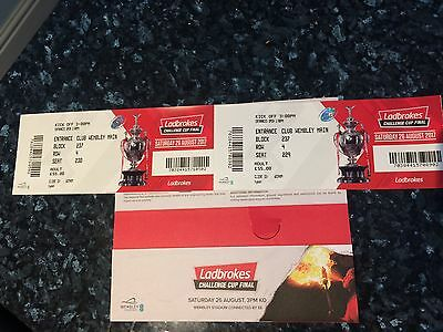 Rugby League Challenge Cup Final Tickets x2
