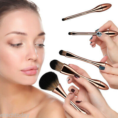 5Pcs Spazzola Pennelli Make-Up Ombretto Professionali Cosmetic Brush Trucco Set