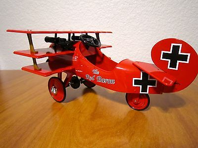 Hallmark Kiddie Car Classic 1950s Red Baron Airplane  LE QHG7114 NIB