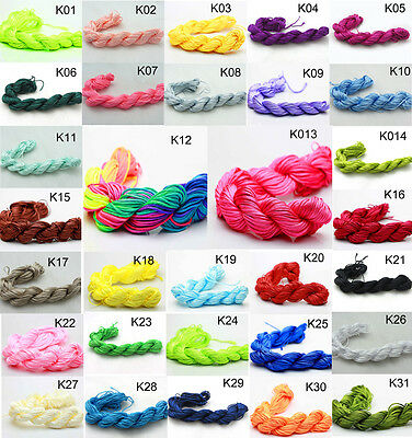 NEW 28M (1mm) Chinese Knotting Nylon Cord Thread Wire Fit Strand Bracelet U PICK