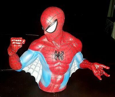 Spider-Man Vinyl Bust Coin Bank - Free Shipping!  Spiderman Piggy Bank