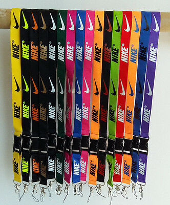 NEW NIKE Clothing brand Logo Lanyard Detachable Key chain ID MP3 holder Neck str